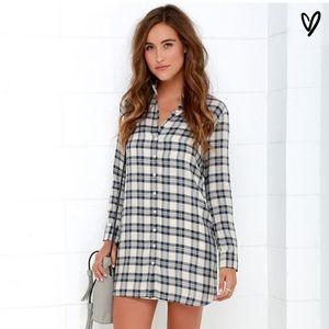 BB Dakota Ruger Plaid Shirt Dress